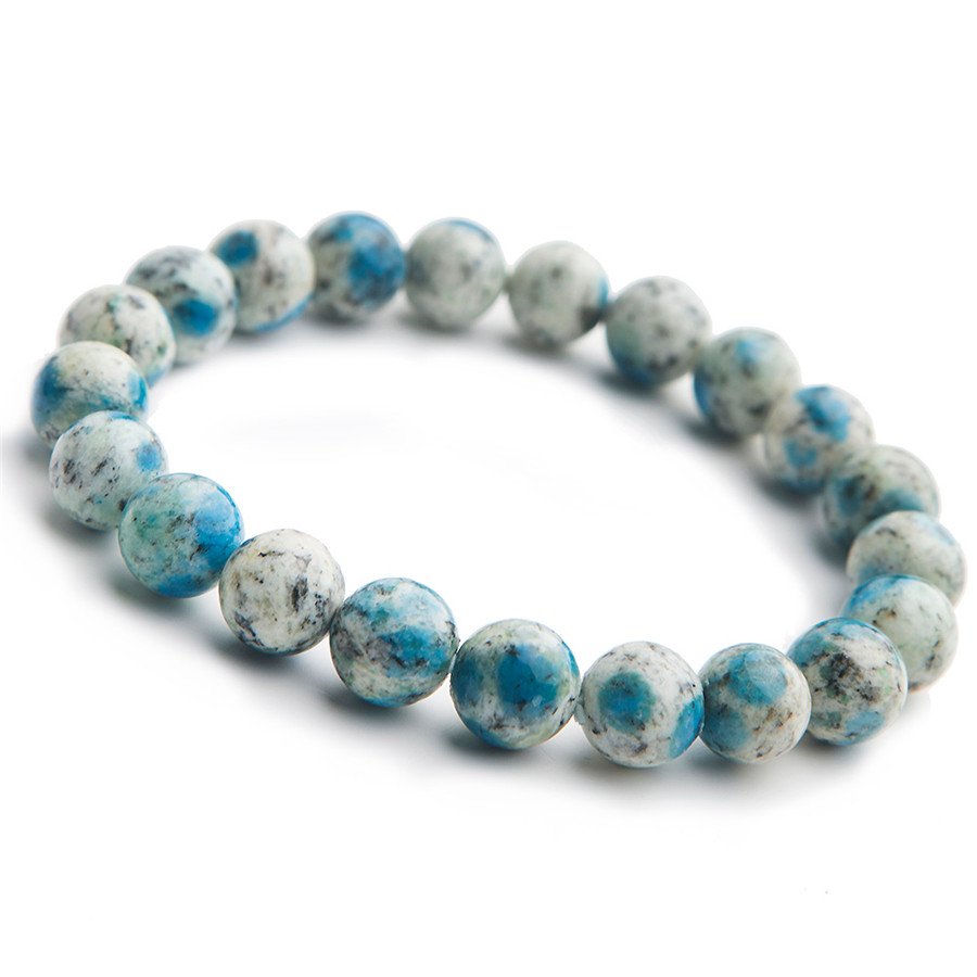 9mm Natural K2 Jasper Volcanic Jasper Gemstone Bracelets For Women Female Stretch Crystal Round Bead Bracelet (1)