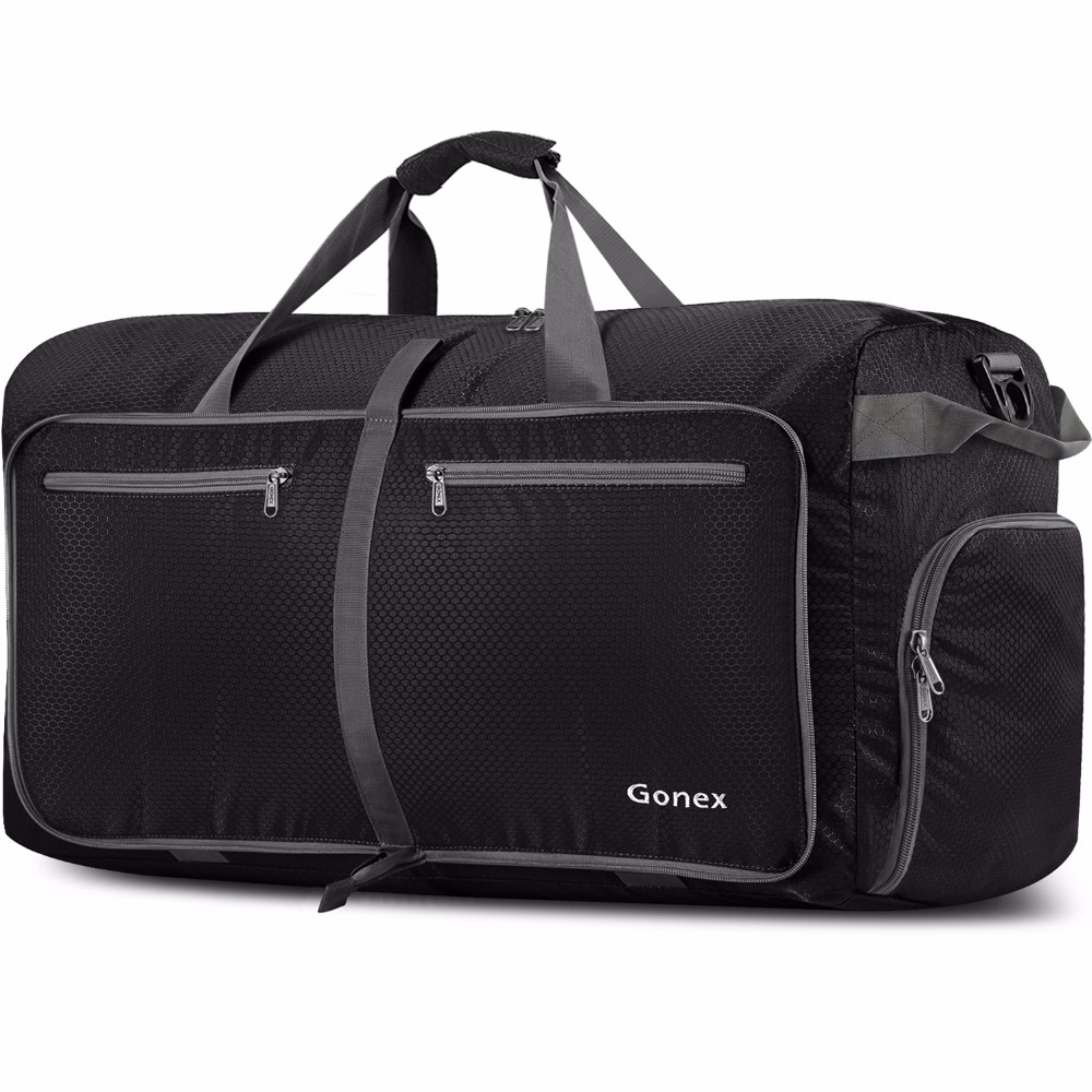 Gonex 100L Business Men Travel Duffle Bag Packable Luggage Suitcase Handbag Large Nylon Bags for Gym Vacation Trip Weekeend 100l duffle bag