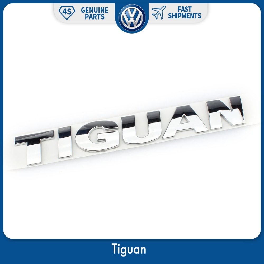OEM 185mm Silver Chrome Car Auto Rear Trunk Lid Badge Decal Sticker TIGUAN Logo for VW Volkswagen Emblem New
