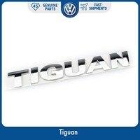 OEM 185mm srebrny chrom samochodów Auto pokrywa bagażnika odznaka kalkomania TIGUAN Logo dla VW Volkswagen godło nowe w Naklejki samochodowe od Samochody i motocykle na