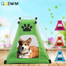 Pet House Tent Shaped Cozy Cat Home Small Dog Foldable Bed Puppy Kitten Animals Products