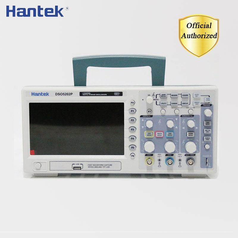 Hantek dso5202p osciloscópio de armazenamento digital 200 mhz 2 canais usb usb portátil osciloscópio portatil ferramentas elétricas