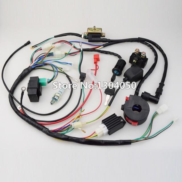 full wiring harness cdi ignition coil kill key switch c7hsa spark rh aliexpress com Spark Plug Wire Looms spark plug wire harness for snowblower