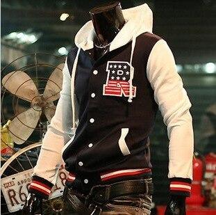 font b Men s b font Fashion Jackets R Letter Baseball Shirt Baseball Uniform Coat