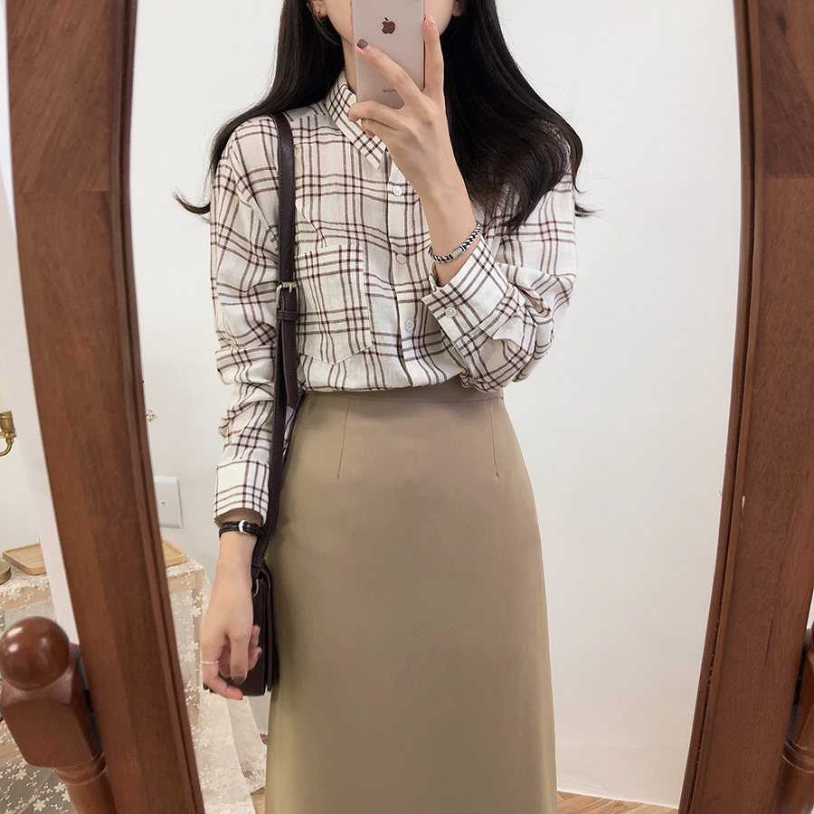 HTB1E962XtjvK1RjSspiq6AEqXXaB - Solid Black Brown Mid Calf Women Skirt Vintage Spring Summer Straight Skirt Long Office Lady High Waist Girls skirts Femininas