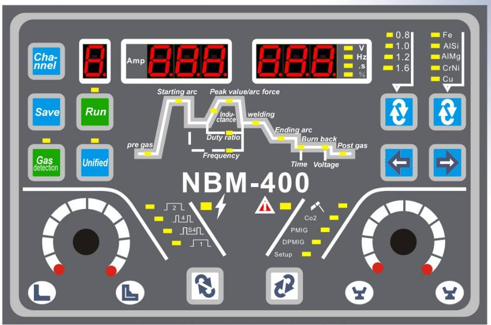 NBM - 400 mitmeotstarbelise masina juhtpaneeli sisaldab nelja tahvlit - Keevitusseadmed - Foto 6