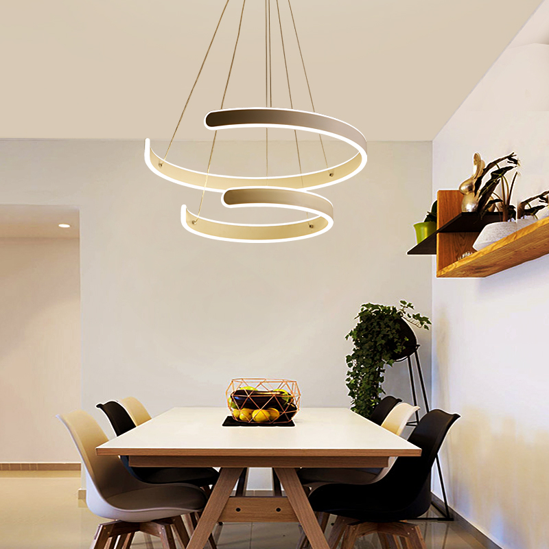 Modern LED Pendant Lights for lampada led Living room Hotel Simple fashion C shape indoor lighting led strip pendant lamp modern led acrylic ceiling lights for parlor lampada led hotel hall led strip acrylic led strip indoor lighting luz de techo
