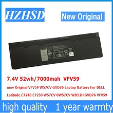 7.4V 52wh/7000mah VFV59 new Original W57CV GVD76 Laptop Battery For DELL Latitude E7240 E7250 W57CV 0W57CV WD52H GVD76 9cells 97wh original new laptop battery for dell latitude e5440 e5540 n5yh9 ft6d9 3k7j7 m7t5f