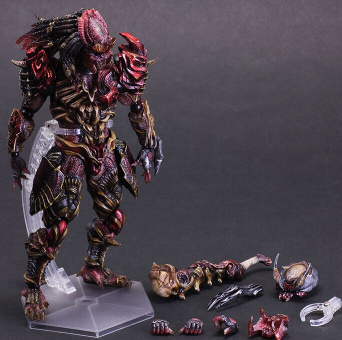цены Predator Action Figure Playarts Kai Alien Hunter Model Toy Movie Primevil Play-Arts Figure Playarts Kai Alien Figures Predator