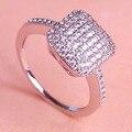 2016 модный AAA полный стразы обручальные кольца для любителей родием CZ цирконий медное кольцо анель марка женщины палец бижутерии
