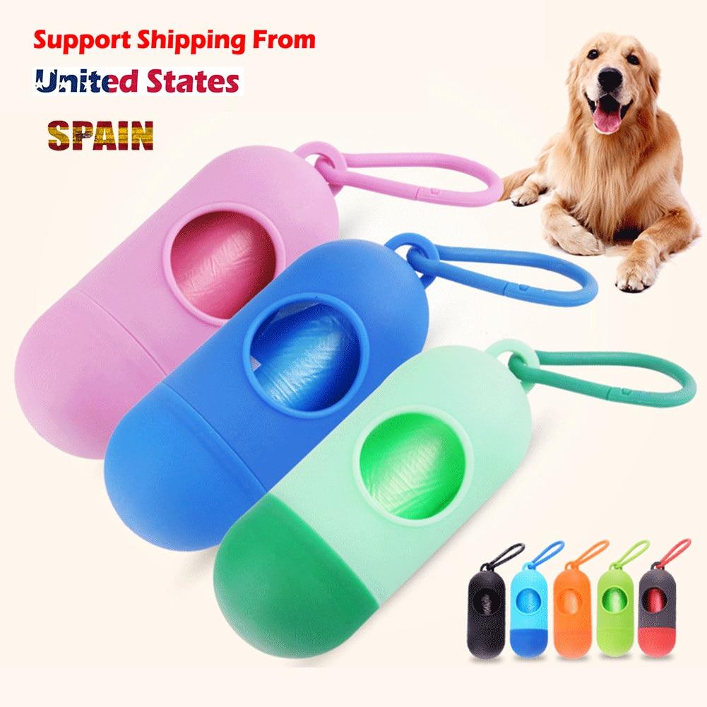 Pill /Bone 8 color Pet Dog Poop Bag Dispenser Waste Garbage Holder Dispensers + Poop Bags Set Pets Dogs Trash Cleaning Supplies sony беспроводные наушники