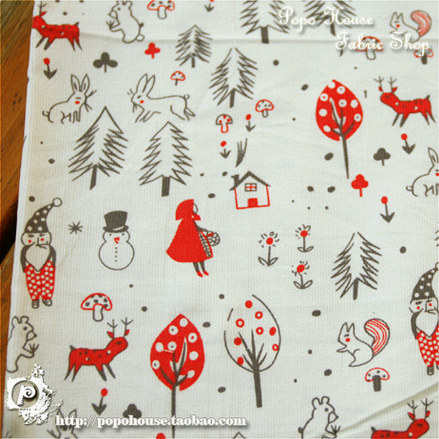 150x50cm Corduroy Cotton Fabric Diy Home Christmas Pine