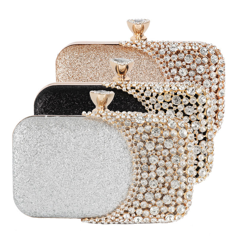 2019 Evening Clutch Bag Women Bags Wedding Shiny Handbags Bridal Metal Bow Clutches Bag Chain Shoulder Bag in Top Handle Bags from Luggage Bags