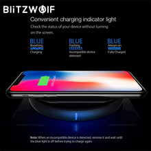 BlitzWolf QI Wireless Desktop Charger For iPhone X 8 Plus Samsung S8 Note 8 S9