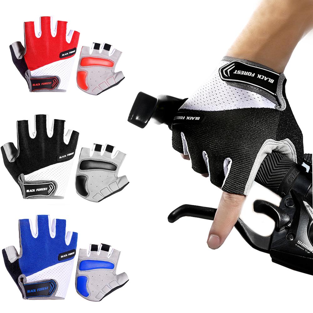 Half Finger Antiskid fitness weight lifting Gloves Outdoor Cycling Mountain Bike Mittens Riding