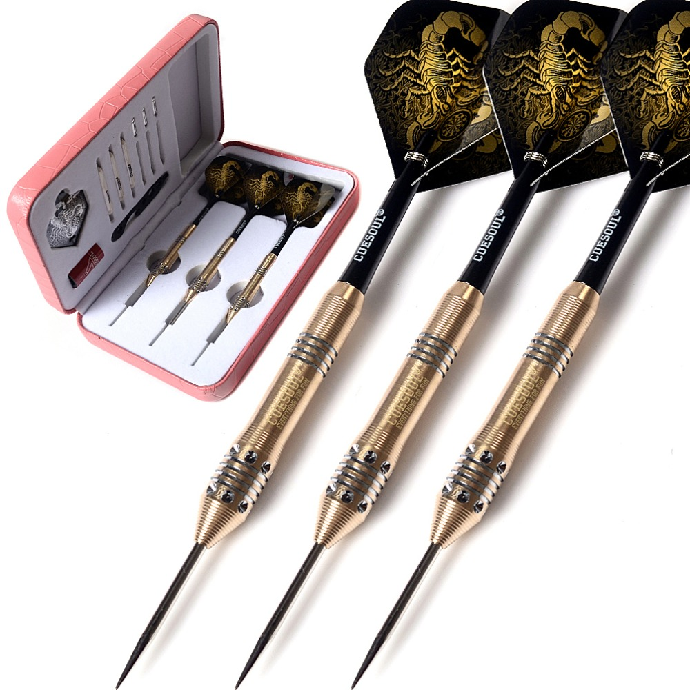 CUESOUL Black Scorpion Deluxe Steel Tip Darts Set 20g in Darts from Sports Entertainment