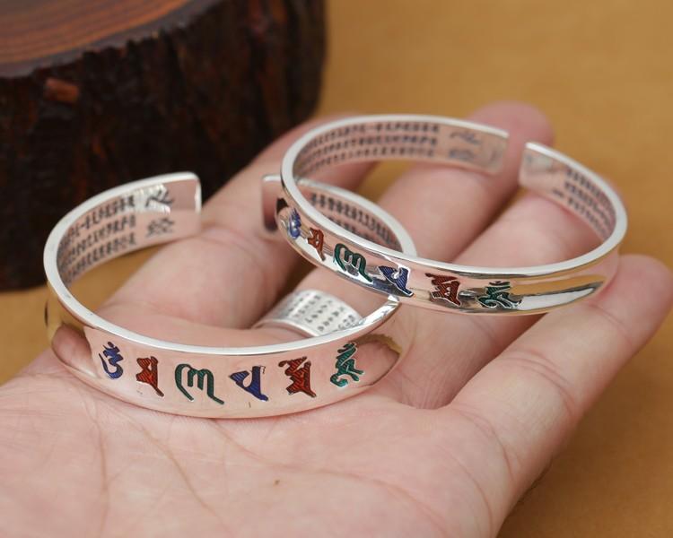 B0089-Tibetan-Pure-Silver-OM-Mantra-Bracelet-2