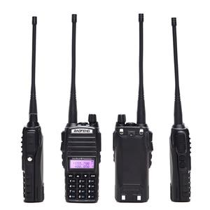 Image 2 - 2pcs BaoFeng UV 82 5W ווקי טוקי Dual Band VHF/UHF כפול PTT BAOFENG uv 82 חובבים נייד רדיו