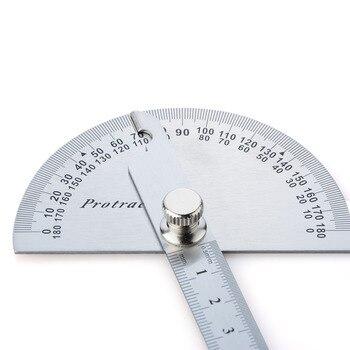 2*30 cm Goniometro Goniometer שליט מד זווית נירוסטה ראש עגול זווית סיבוב 180 מעלות עבור בעלי מלאכה או בוני