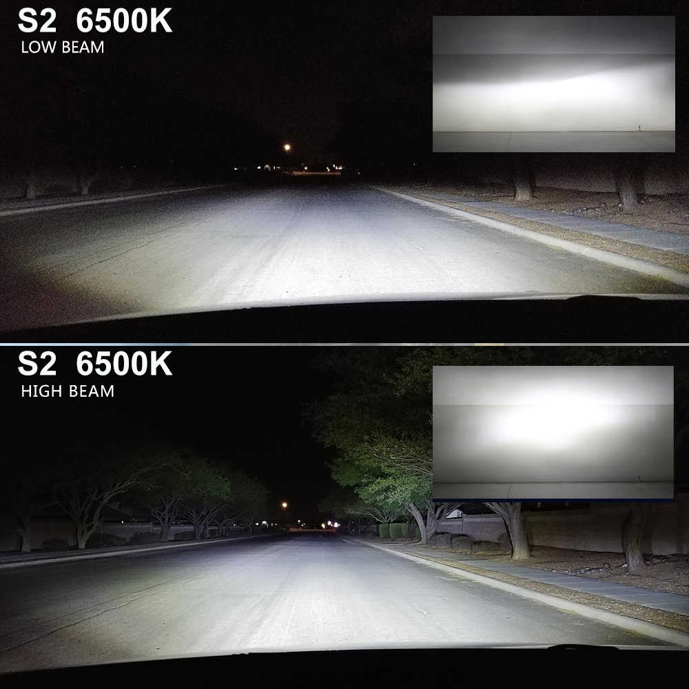 BraveWay H4 светодиодные фары 6500K лампы H7 светодиодные лампы цветные Автомобильные противотуманные фары небольшого размера H1 H3 светодиодные лампы H8 H11 HB3 BH4 фары