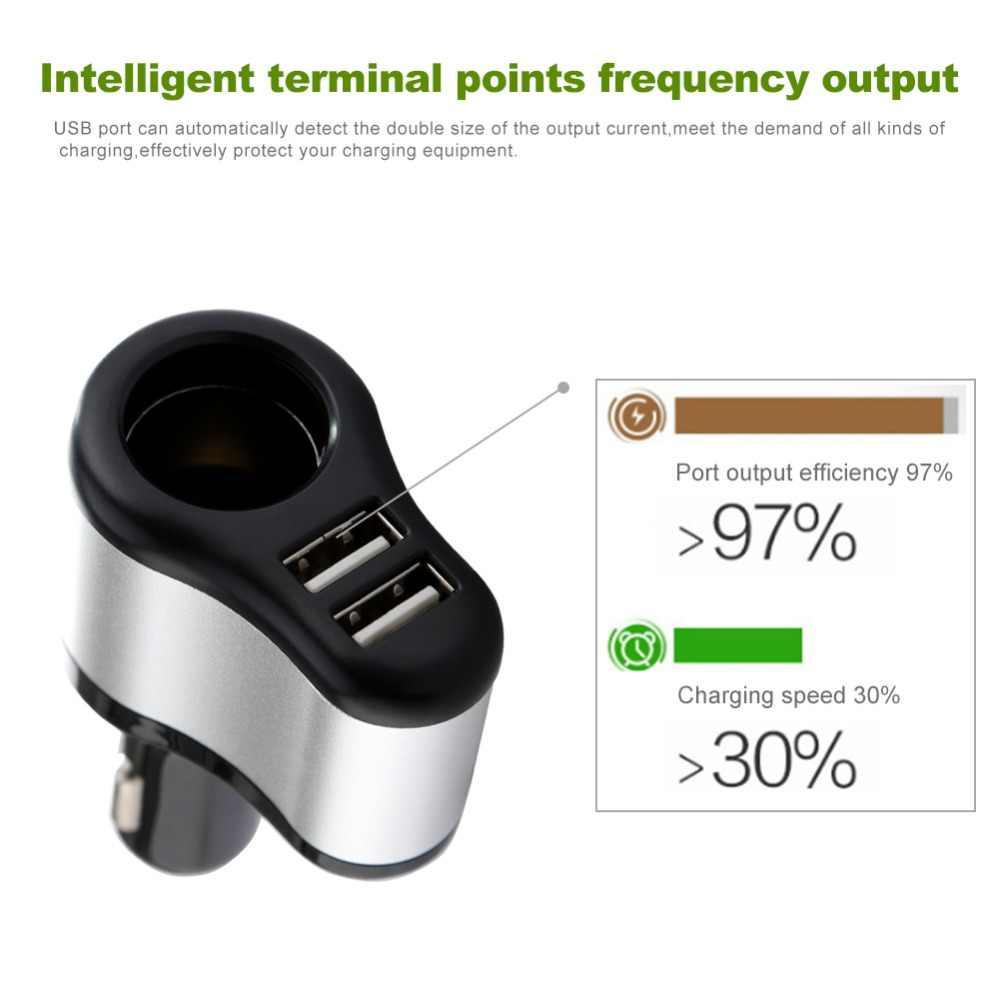 120W 3.1A Dual USB Car Cigarette Lighter Adapter Sockets Car USB Converter Voltage Display High Power Auto Lighter Splitter