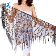 Free Shipping Belly Dance Costume Performance Hip Scarf Dancing Belt Dancewear Outfits Sequined Fringe