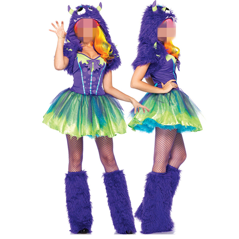 Anime Costume Cosplay Sexy Purple Posh Monster Halloween Costumes for Women Carnival Costume Fantasia Cosplay Adult Fancy Dress