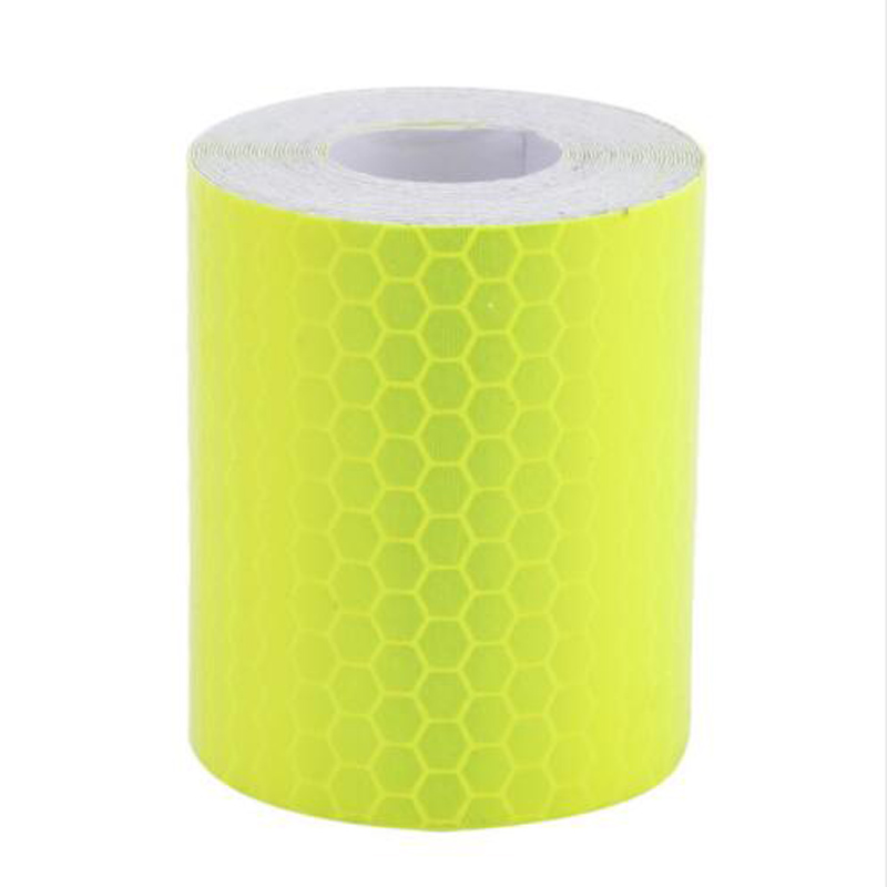 MOONBIFFY New 3M Fluorescence Pure Yellow Reflective Car Truck Motorcycle Sticker Safety Warning Signs Conspicuity Tape Roll