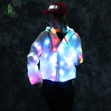 Free shipping LED luminous costume jacket lighting cloth washable flash high quality