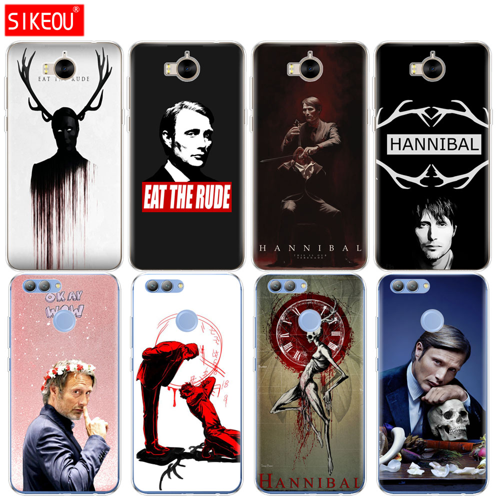 Силиконовый чехол для телефона huawei Y3 Y6 Y5 2 II 2017 nova 2s LITE plus Hannibal eat the rude|Бамперы| |