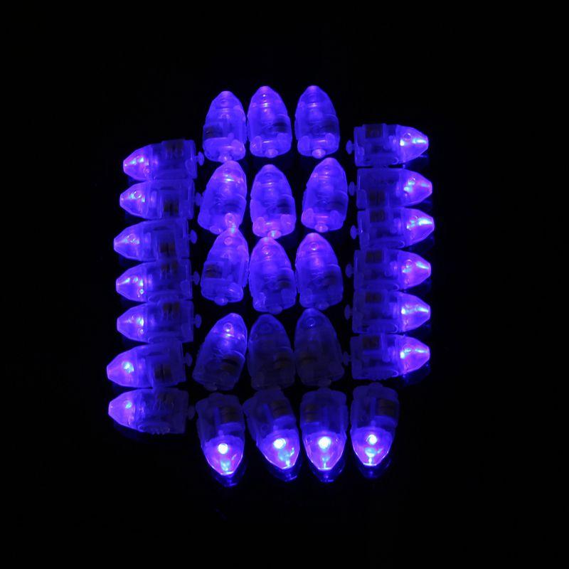 50st / lot Färgglada LED-lampor Ballonglampor för papper Lyktor - Semester och fester - Foto 3