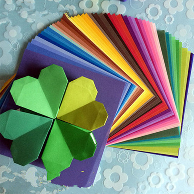 50colors Colored Origami Paper Cranes DIY Handmade Paper Flowers Origami Folding Paper Scrapbooking Decor Pattern Paper Crafts