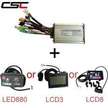 Квадратный волновой бесщеточный Электрический велосипед 6 контроллер МОП транзистора для 36 в 250 Вт 350 Вт 500 Вт Ebike, светодиодный дисплей серии KT LCD3 LCD8
