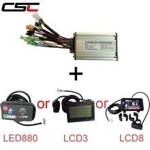 Square Waveเกียร์ไร้แปรงไฟฟ้าจักรยาน6 Mosfet Controllerสำหรับ36V 250W 350W 500W Ebike , KT LED LCD3 LCD8จอแสดงผล