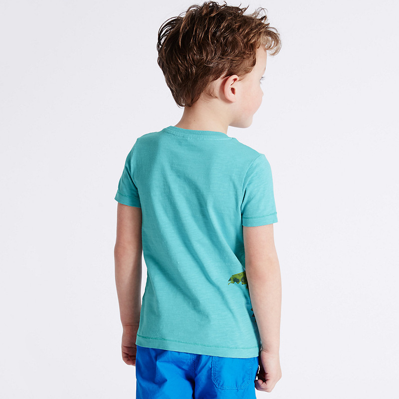 HTB1E98fXbSYBuNjSspiq6xNzpXaZ - brand 2018 new fashion kids clothing 100%cotton blouse childrens clothes baby boy t shirts boy's top tee cartoon car Dinosaur