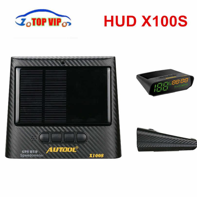 높은 판매 originla hud autool hud 헤드 디스플레이 x100s 유니버설 obdii obd2 & gps 자동차 과속 mph/km/h 알람 속도계