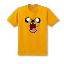 Adventure Time Jack Orange Cartoon Cosplay Costume Summer Style Short Sleeve Tee T Shirt For Men Cotton Plus Size