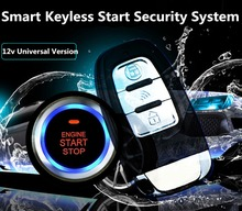Adeeing Universal 8Pcs Car Alarm Keyless Start Security System PKE Induction Anti-theft Entry Button Remote