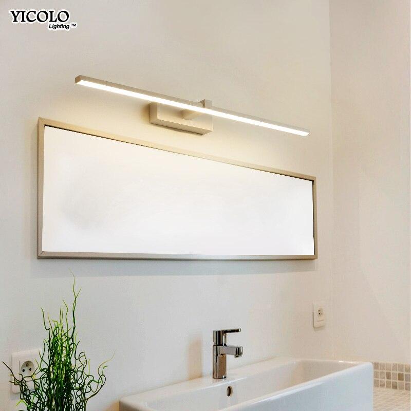 Светодио дный светодиодный зеркальный светильник настенные лампы для ванной комнаты водостойкий Белый Черный светодио дный светодиодный ...