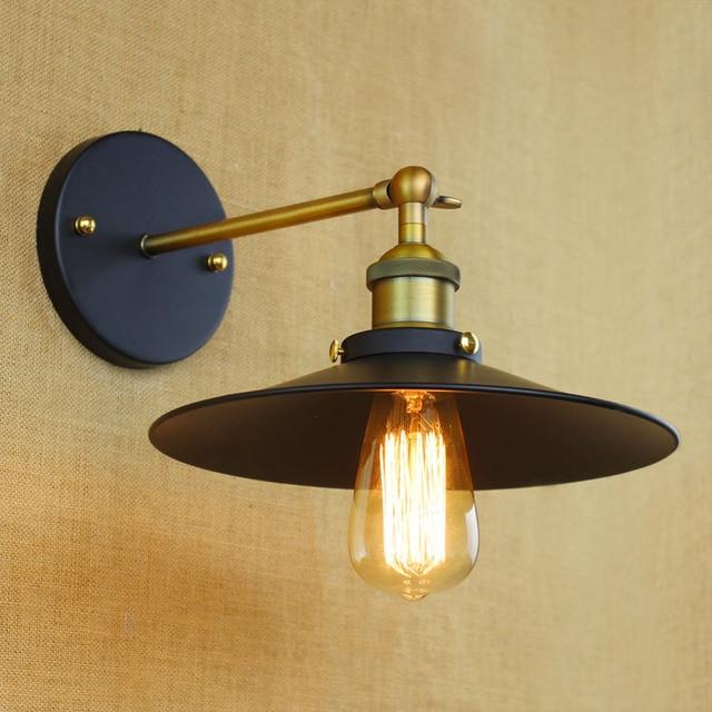 Black metal small wall lamp light for led 110v 220v vintage loft ...