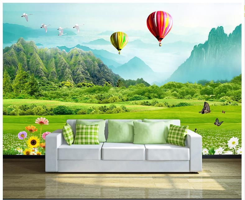 3d Wallpaper Custom 3d Wall Murals Wallpaper Mural Fashion Fresh Gr Mountain Balloon 3d Tv Backdrop 3d Living Room Wallpaper