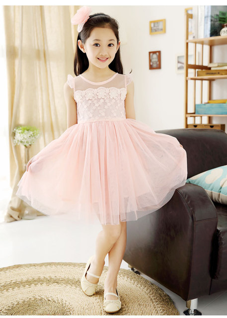 d99f096ec8ff80 2015 summer baby girls dress white pink lace Dance princess dress girls  party dresses tutu ages 3 4 6 8 10 12 years kids dress