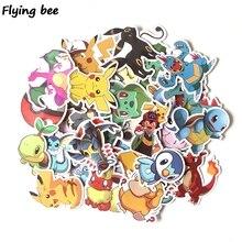 Flyingbee 37 Pcs Cartoon Graffiti Stickers for Kids DIY Luggage Laptop Car Sticker Bicycle Waterproof X0290