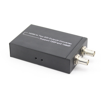 New HDMI to SDI Converter Adapter 3G HD SDI for driving HDMI Monitors HDMI to 2 SDI Converter with Power adapter