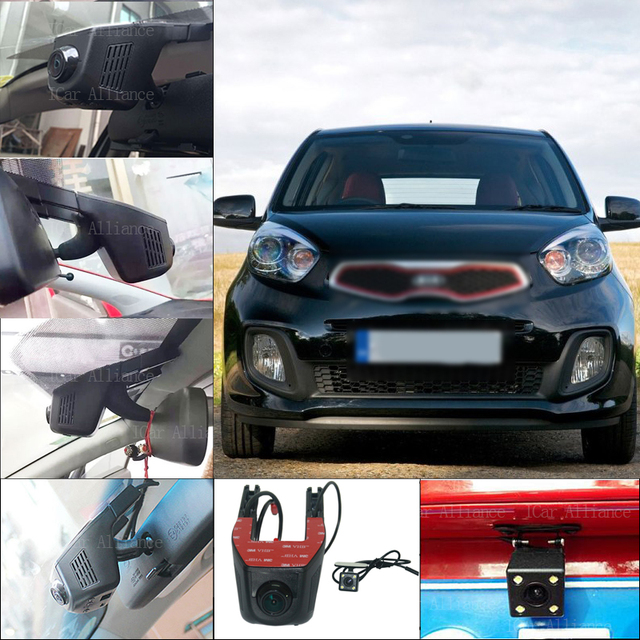 For KIA Picanto Car Wifi DVR Dual lens Dash Cam Car Black Box Hidden installation Novatek 96658 parking DVR Night vision