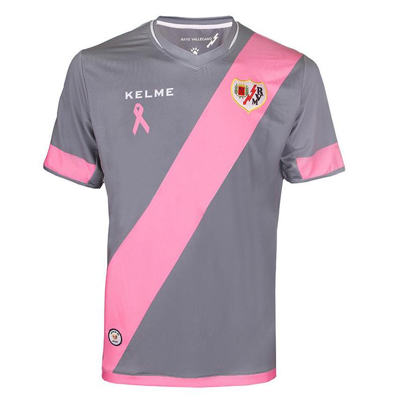 a284ed21a7 Camiseta Rayo Vallecano 2016 15 futebol Jersey casa branca De rosa ...