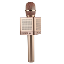 Q10S Беспроводной караоке микрофон 2.1 Звуковая дорожка объемного звука голос изменения 4 колонки смартфон караоке микрофон