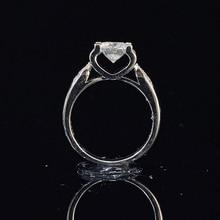 14K White Gold 1ct 2ct 3ct Moissanite Ring Round Cut Luxury Diamond jewelry ring Wedding Ring Engagement Ring staryee charles colvard 1ct princess cut moissanite ring real platinum designer fine jewelry for women 0 3ct diamond accents