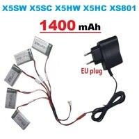 1300mAh 3 7V LiPo Battery Euro Plug AC Charger For SYMA X5SW X5SC X5HW X5HC XS801