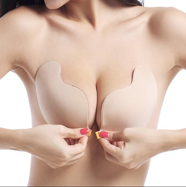 Sexy Lingerie Women Push Up Silicone Mango Bra Self Adhesive Seamless Strapless Front Closure Gel Invisible Bras